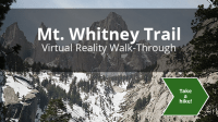 Screenshot of Mt. Whitney VR tour for the phone