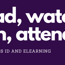 read, watch, join, attend: all things ID and elearning