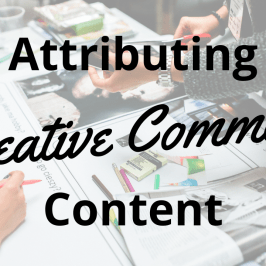 Attributing Creative Commons Content