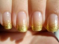 Lin's Lacquer: Gold Glitter Gradient