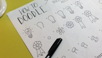 Bullet Journal Secrets Idea Notebook Just For Fonts Doodles