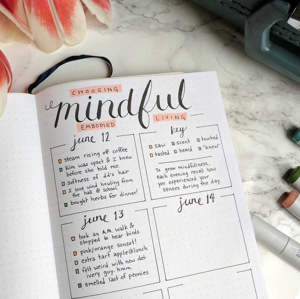 Mindfulness Bullet Journal Layout