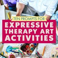 10 Unique Art Prompts for Casual and Therapeutic Art Groups