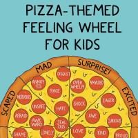 Pizza Themed Simple Emotion Wheel For Kids + Free Printable PDF Kid's Feelings Wheel Download