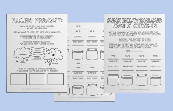 Feeling Forecast Worksheet Pack- Emotion Regulation Teaching Tool