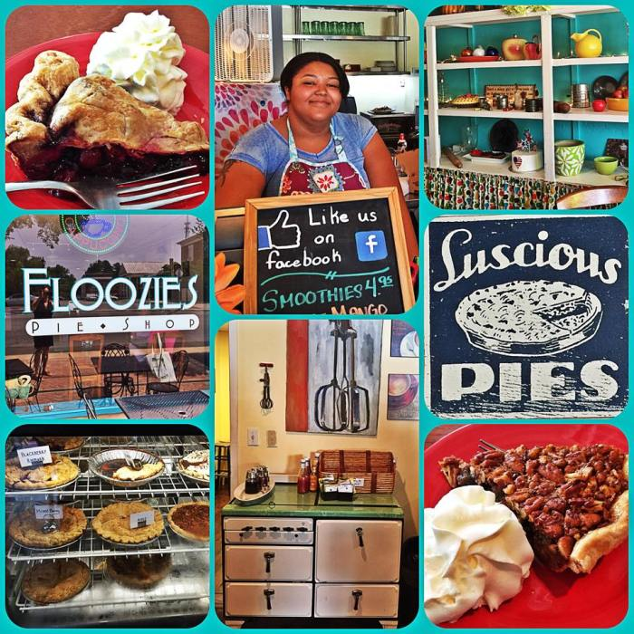 Floozies pie shop photo collage by Girl Goes Virginia