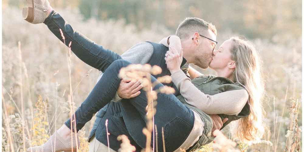 Samantha & Gabe's Fall Foliage Engagement Session in Northern Pennsylvania