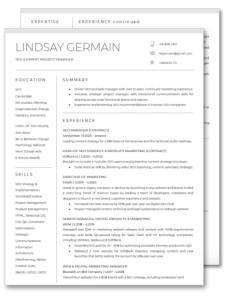SEO Manager Lindsay Germain - Resume