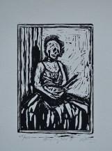 Mockingbird II / Ink on paper / Lino-Print