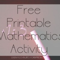 Free Printable Mathematics Activity – Word Problem 8