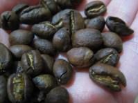 Maya Vinic, fresh roasted coffee beans