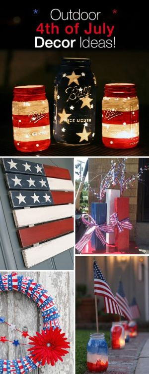 Outdoor 4th of July Decor