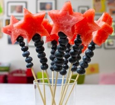 blueberry and watermelon wands