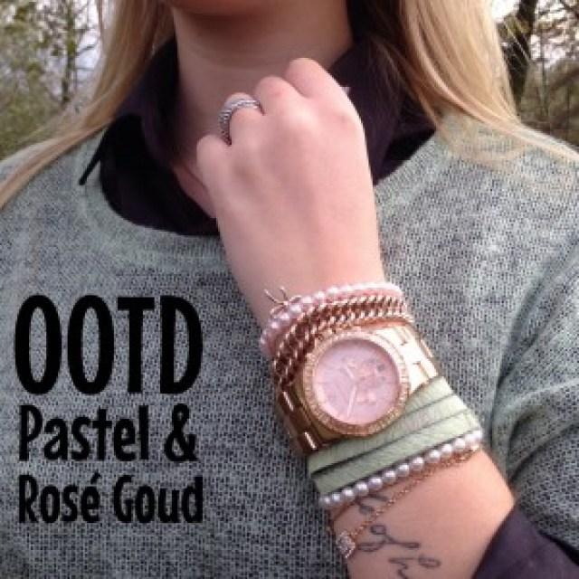 OOTD Pastel & Rosé Goud