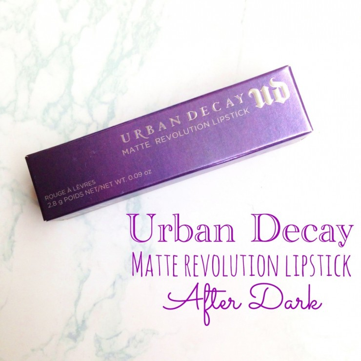 Urban Decay Matte Revolution Lipstick After Dark