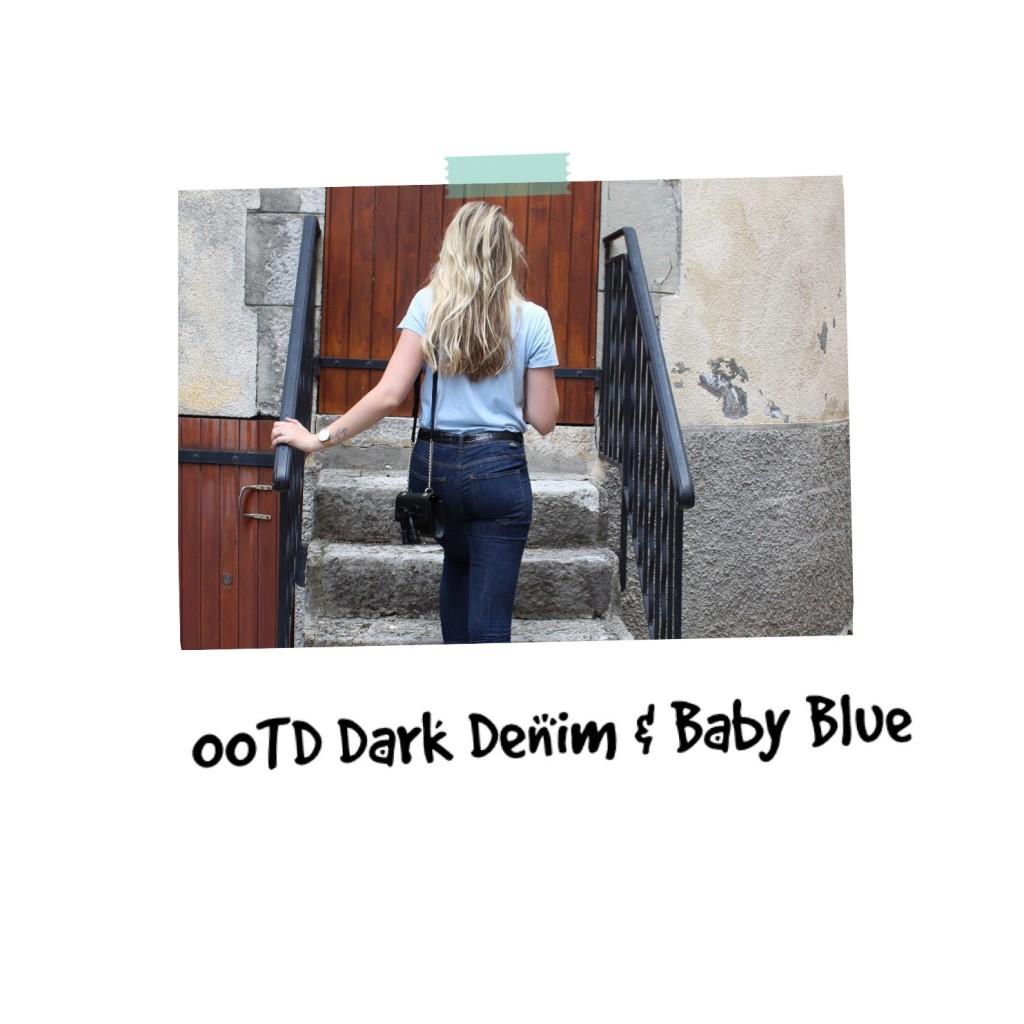OOTD Dark Denim & Baby Blue
