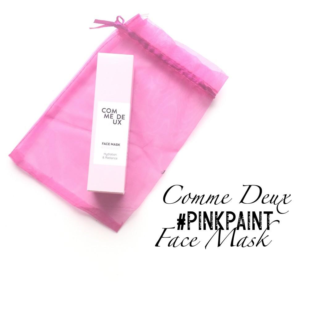 Comme Deux #PINKPAINT Face Mask