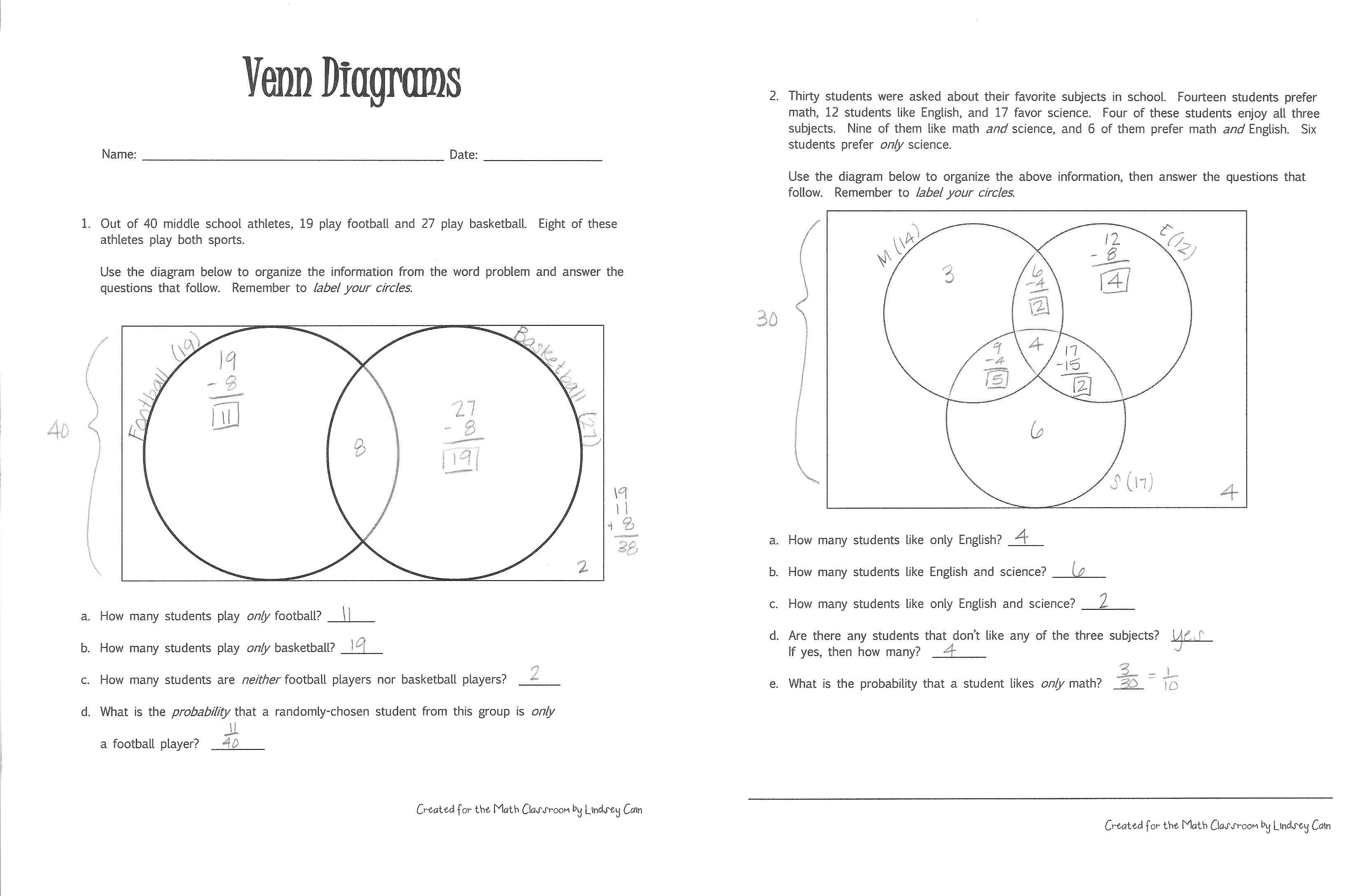 venn diagram math problems with solutions