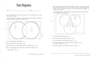 Venn Diagrams | Literacy Strategies for the Math Classroom