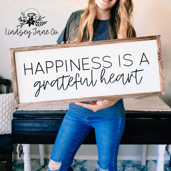 Lindsey Jane co- Happiness is a grateful heart