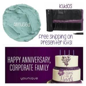 brush roll, free shipping, presenter kit, cream shadow amused