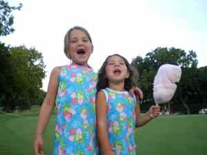 Macon & Anne Shelton Enjoying Cotton Candy - 2008