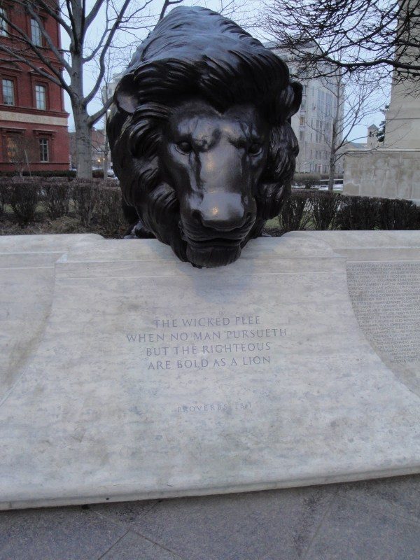 National Law Enforcement Memorial Lion