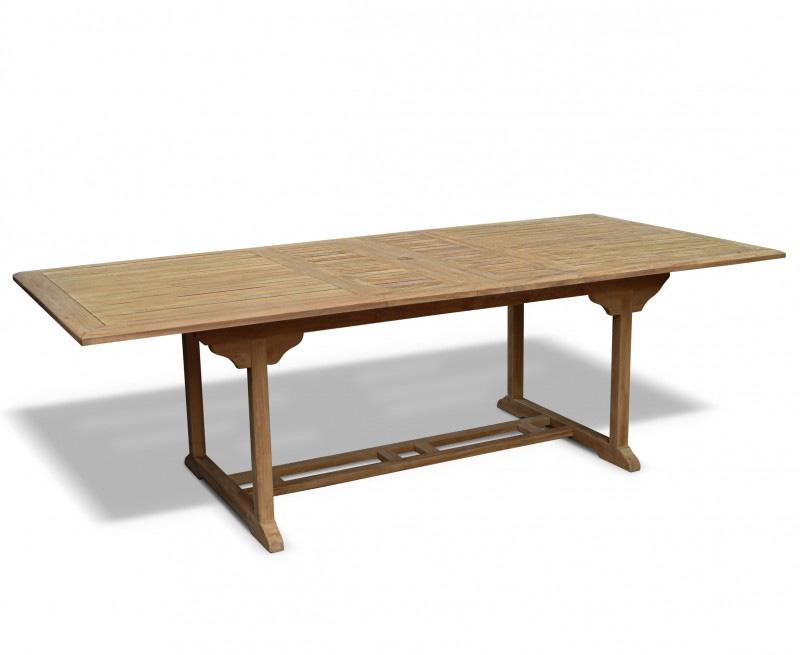 Dorchester Teak Rectangular Extending Garden Table 1.8m