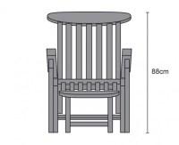 Halo Teak Steamer Chair with Free Cushion - Lindsey Teak