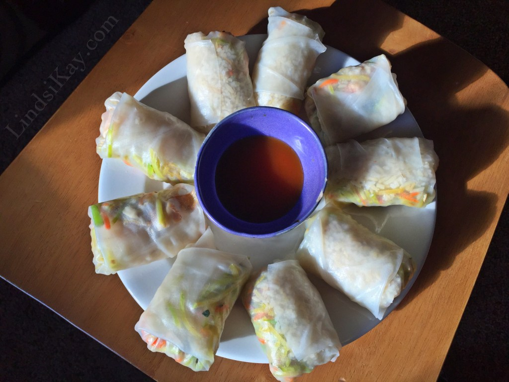 gluten free dairy free smoked salmon and avocado spring rolls with sweet and sour sauce recipe lindsikay how to make