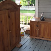 Outdoor Armoire with Homemade Chalk Paint
