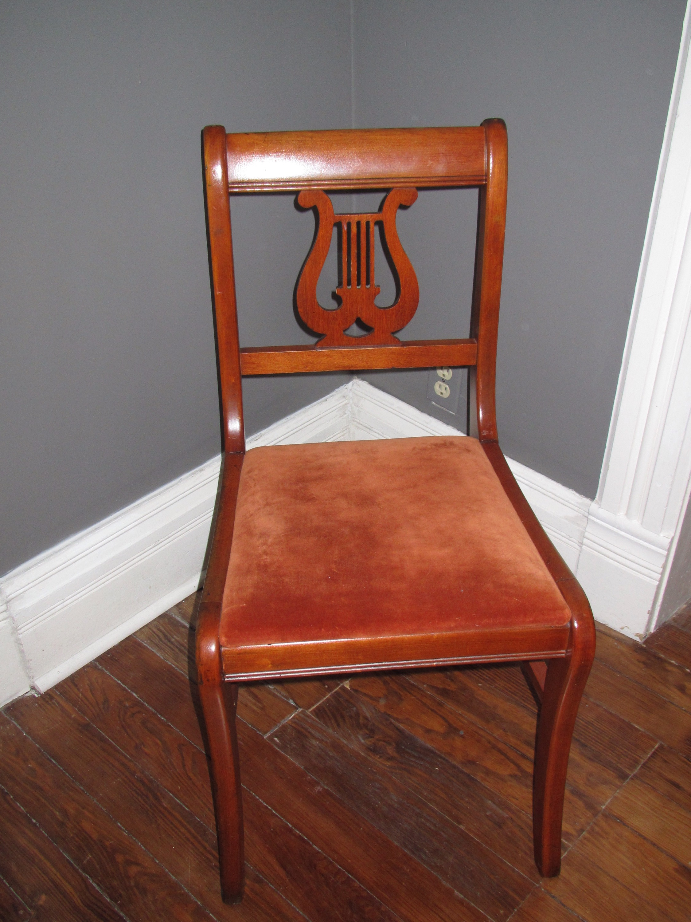 Lyre Back Chairs Lyre Chair Makeover With Gel Stain A Guy A Girl And A