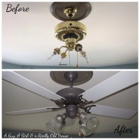 Painting a Ceiling Fan on the Ceiling | A Guy, A Girl ...
