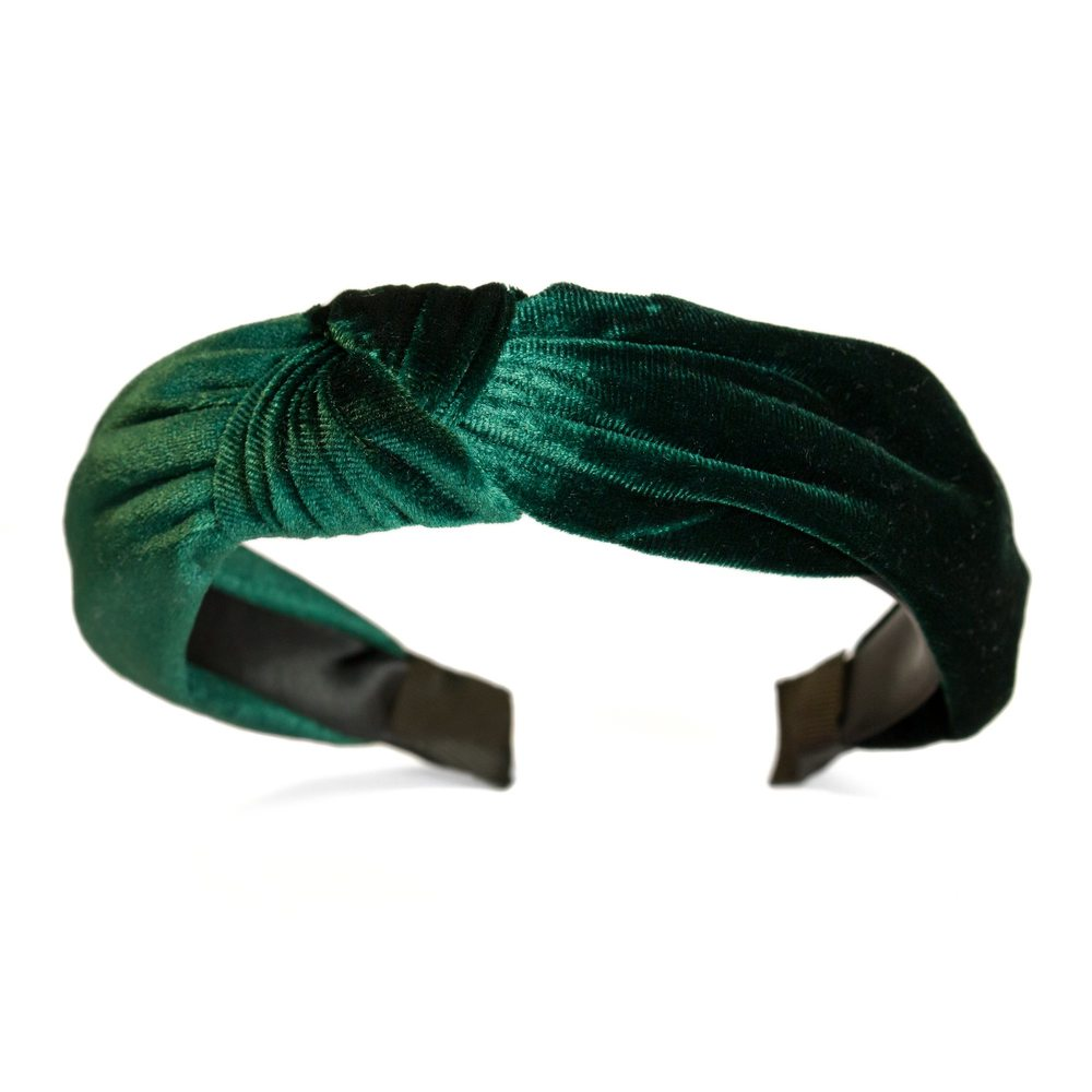 EMERALD GREEN VELVET TURBAN HEADBAND · The Lindy Charm School 5ac24a28a93