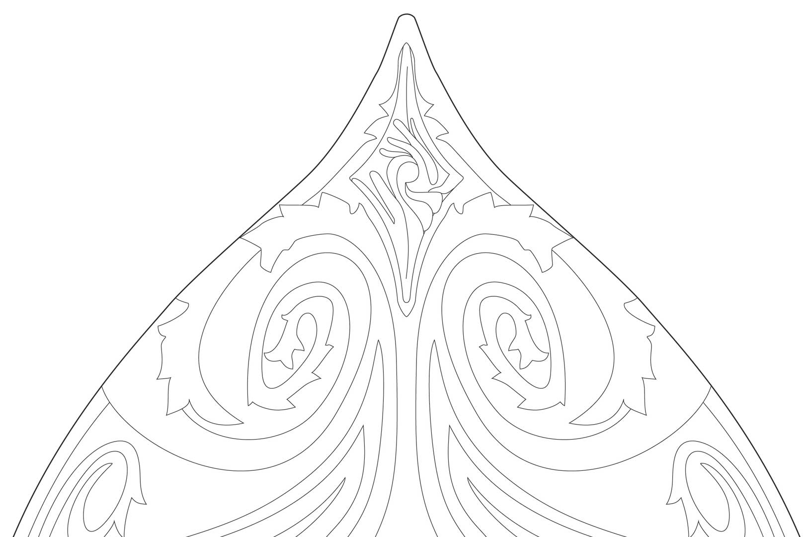 High Elven Warrior Shield Template