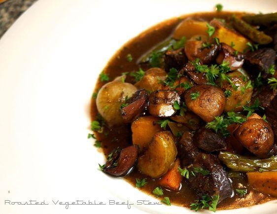 Roasted Vegetable Beef Stew  LindySez Recipe