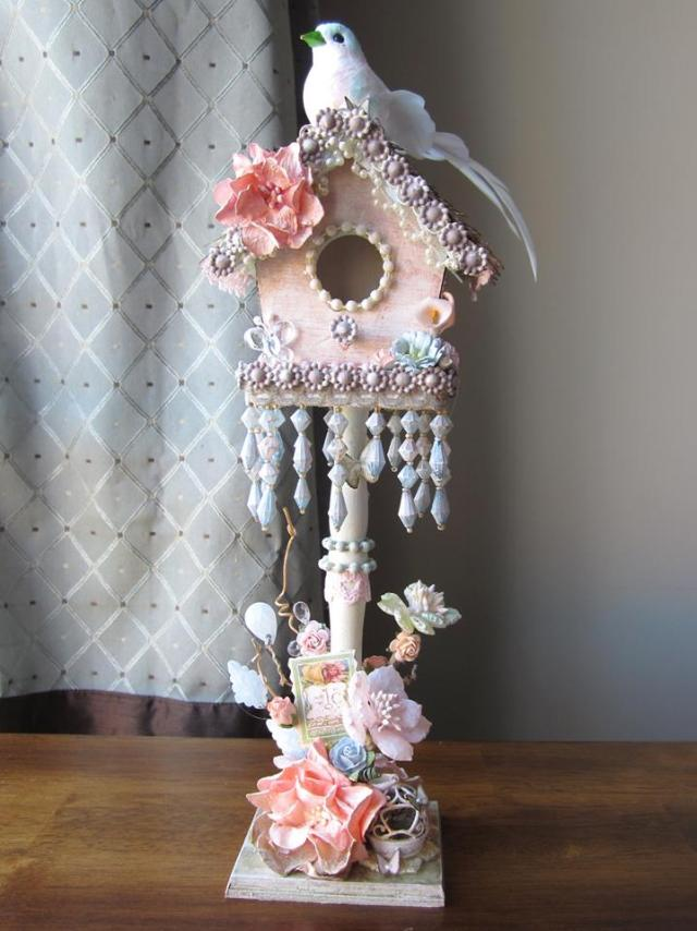 mb treasurista enchanting altered bird house make your own lindys stamp gang
