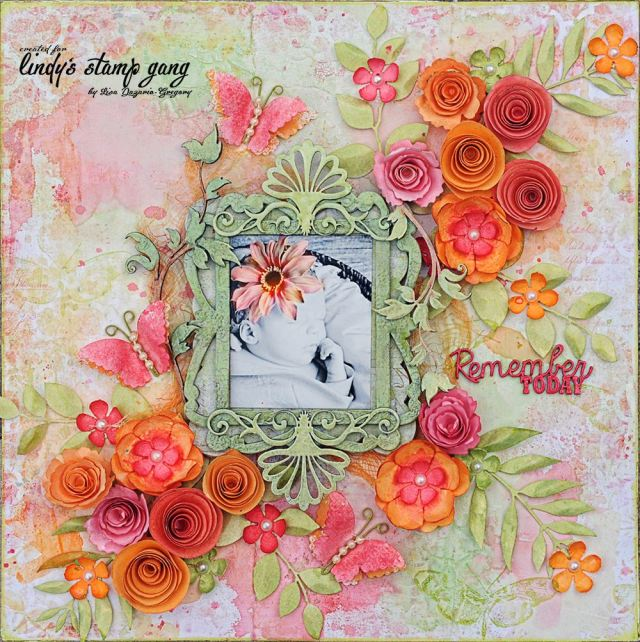 lindys september color challenge by Lisa Gregory