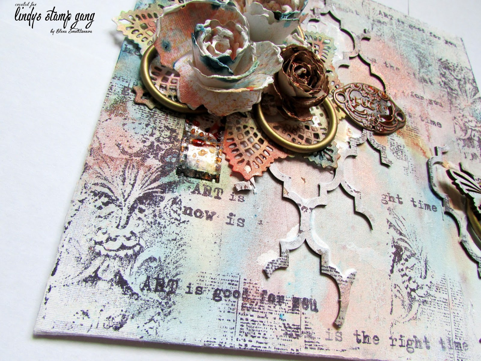 3d canvas tutorial by elena smoktunova lindys gang everything is simple but when i took my favourite sprays from lindys stamp gang baditri Image collections