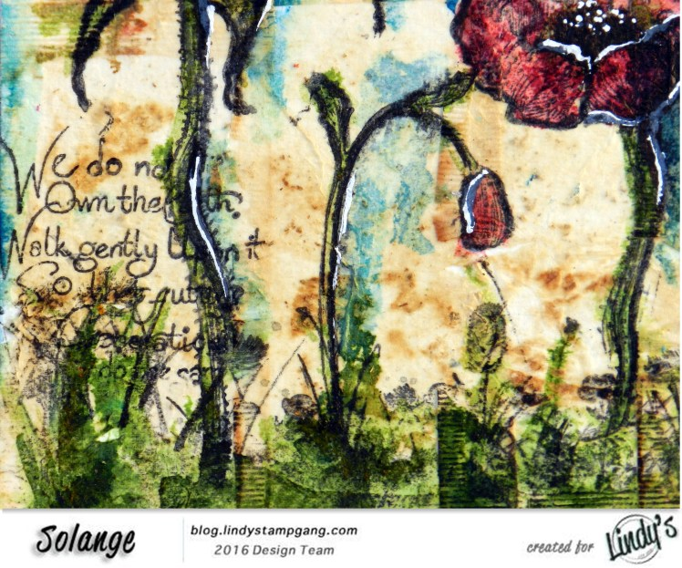 watercolor on tea bag by Solange Marques using Magical Lindy's Stamp Gang -09
