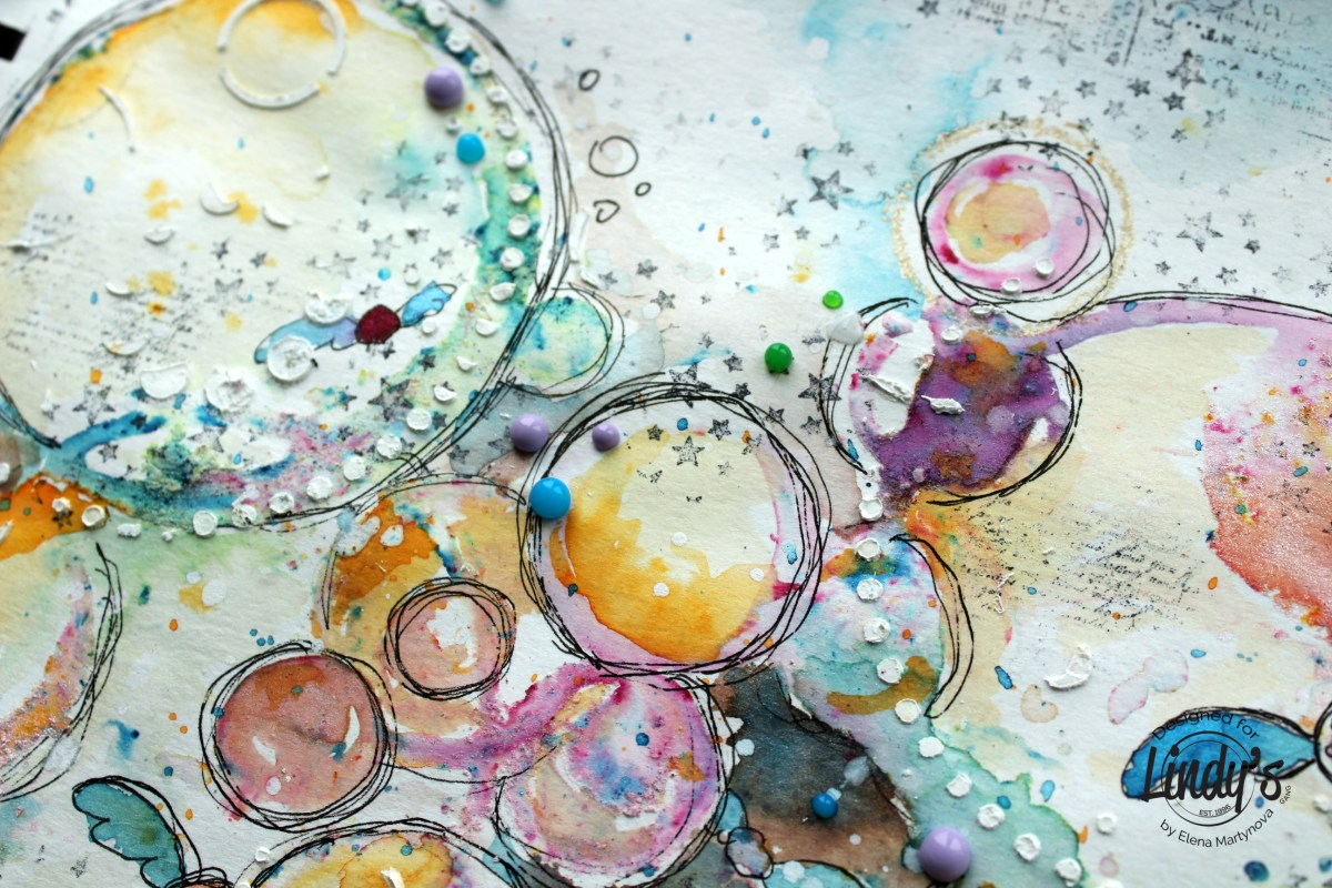 Art Journal Page - Bubbles