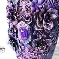 Mixed Media Altered Vase with Yulianna Efremova