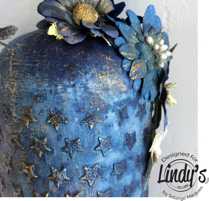 altered bottle by Solange Marques with Lindy's Stamp Gang products-05