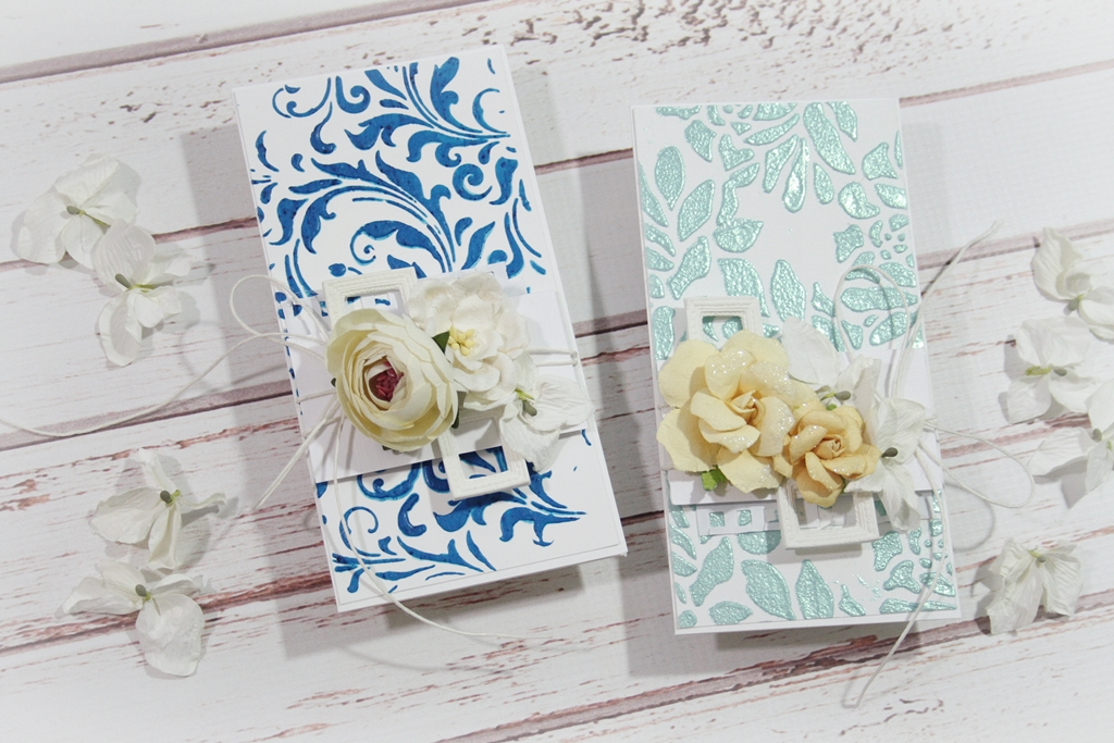 Stencil Relief Backgrounds Tutorial - Perfect for Quick Cards