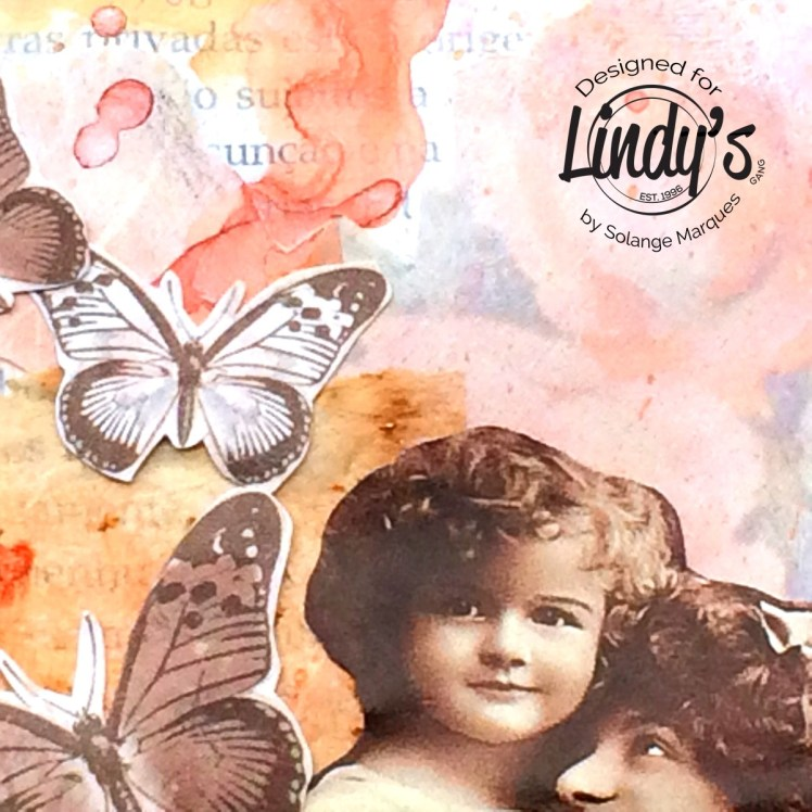 art journal pages by Solange marques with Lindy's Stamp Gang products-10