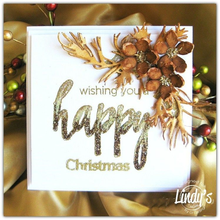 Brown Glitter Happy ...Christmas Card