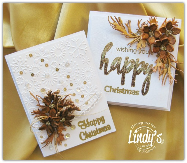 Brown Xmas Cards by Di Garling
