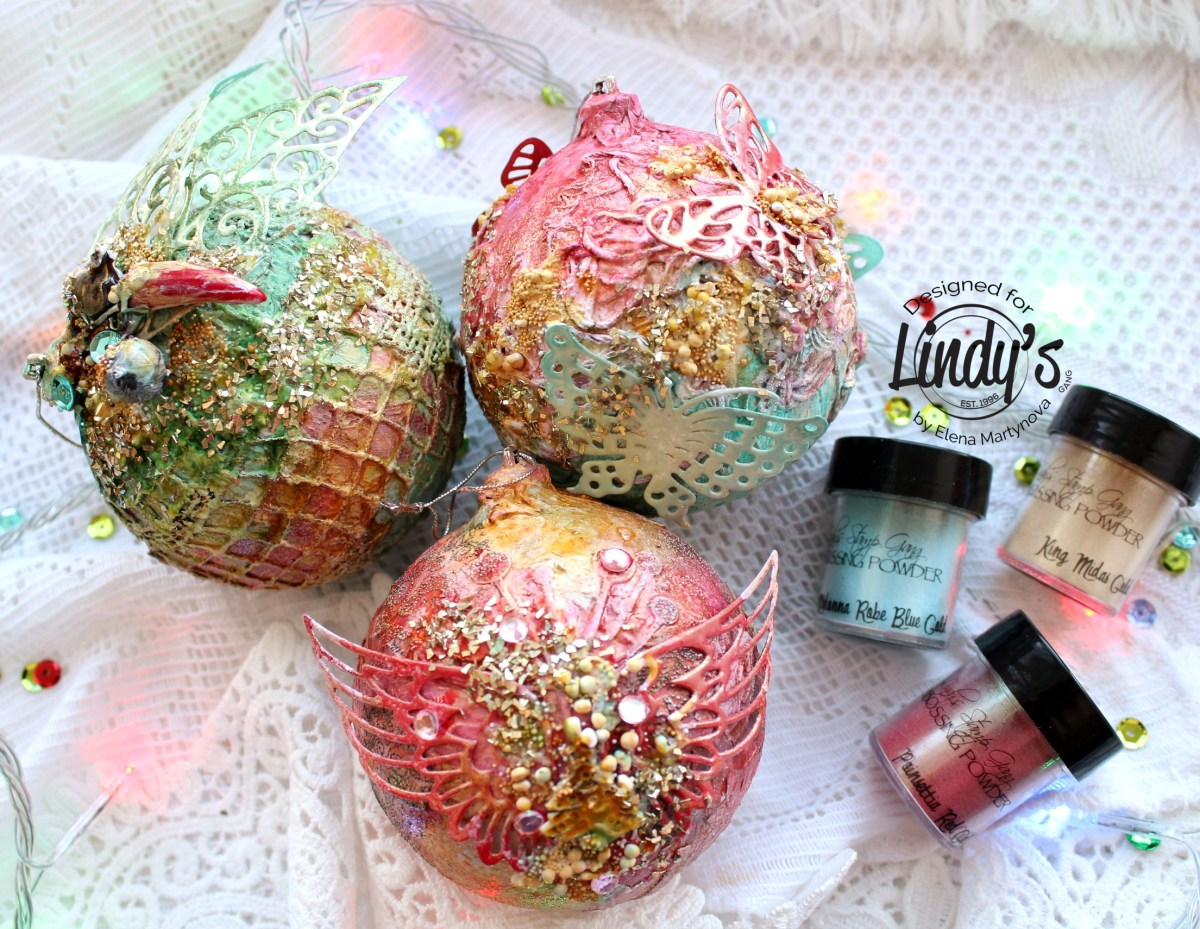 Decorating Christmas Ornaments with Lindy's