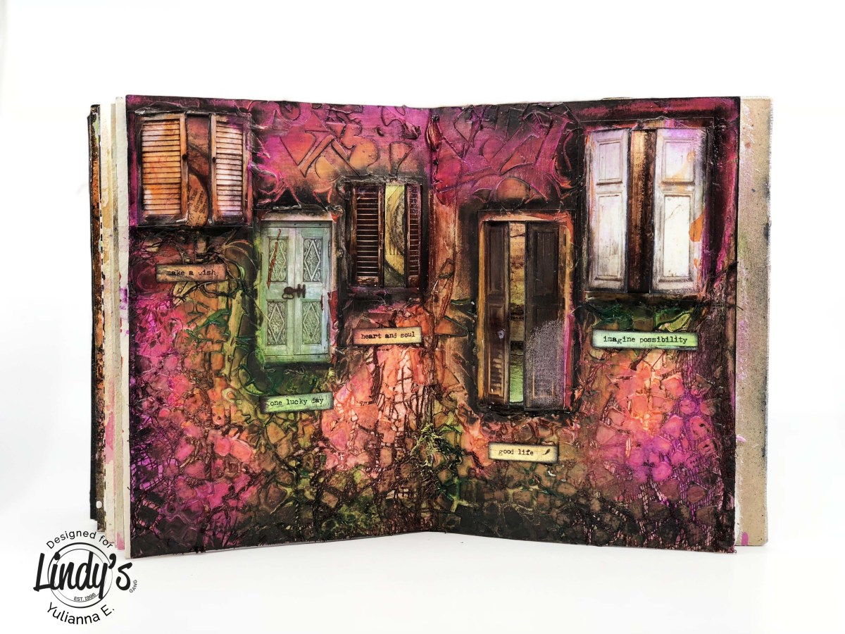 "Mixed Media Art Journal ""Doors"" with Yulianna Efremova"