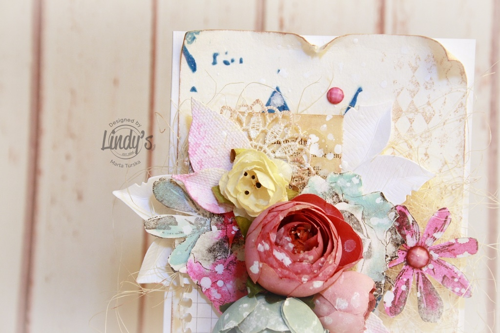 Pretty Mixed Media Card Tutorial with Marta